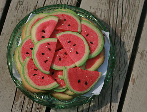 Watermelon cooki